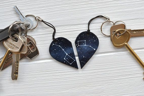 Set of keychains Big dipper Little dipper Half heart by MagicTwirl