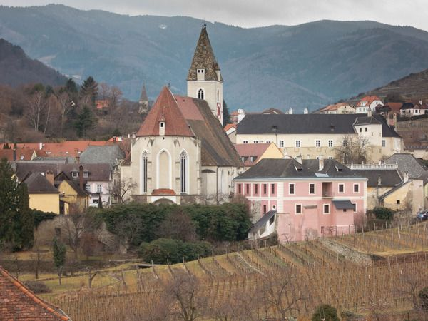 Weingut Franz Hirtzberger, Wachau, Austria: Current Releases    Standing at the edge of the Danube on a cold spring day, gazing at darkening clouds above the picturesque church of Spitz that is set against a natural bowl of steep terraced hillsides lined with vines, it would be so easy to imagine that you are actually looking backward through time. Other than the modern highway snaking past this little village at the northern end of Austria's Wachau wine region.... Read More...