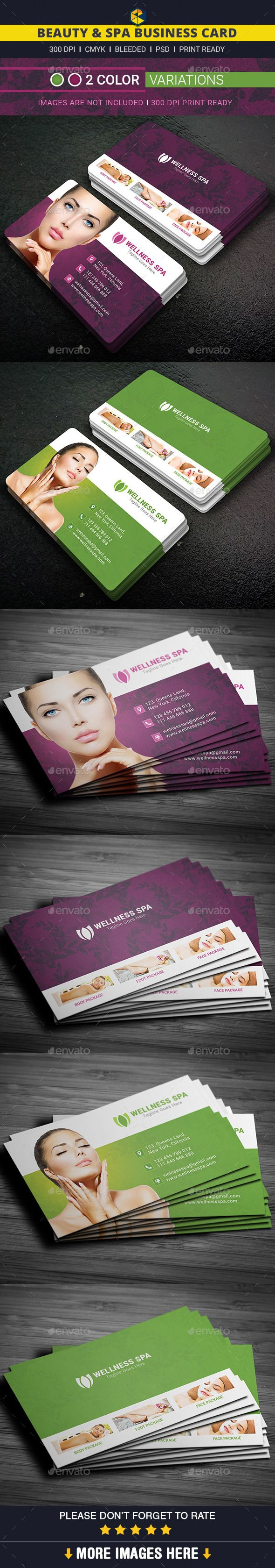 Beauty & Spa Business Card Template #design Download: http://graphicriver.net/item/beauty-spa-business-card/12095440?ref=ksioks