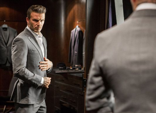 A Well-Dressed Man.                                   David Beckham for David Beckham Classic.