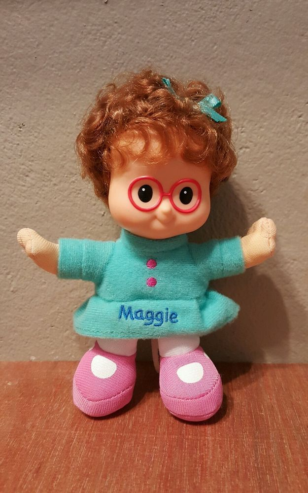 Fisher Price Little People Plush Maggie Doll Vinyl Head