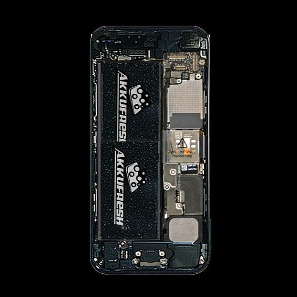 iPhone5 inside powered by AkkuFresh® Next Generation™ #akkufresh #battery #foil #apple #iphone5