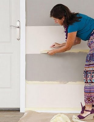 how 2 paint a striped wall