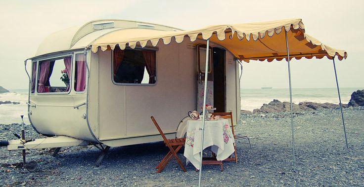 Lovelane Caravans - Boutique Classic Caravan campsite in Cornwall  Too bad this is so far away-what a fun idea