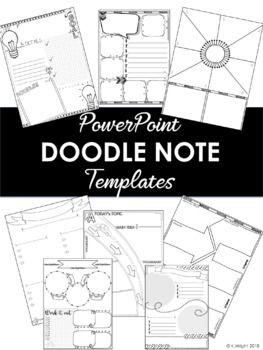 doodle notes diy template kit doodle note templates pinterest