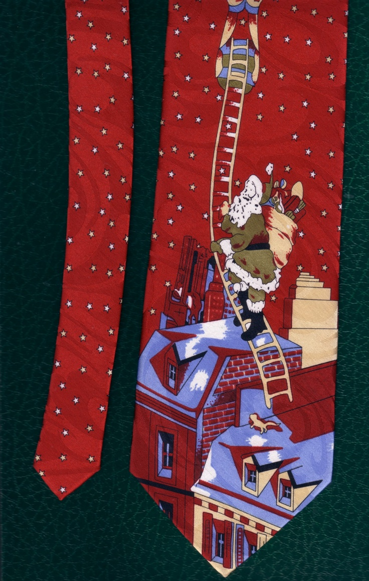 Santa is coming to town necktie