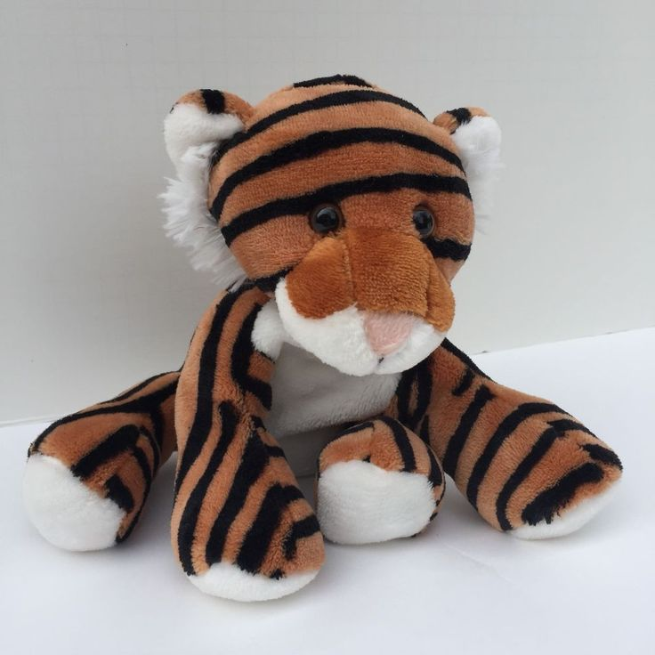 "Fiesta Comfies Plush Sitting Tiger Stuffed Animal Soft Floppy Lovey 7 1/2"" Tall  #Fiesta"