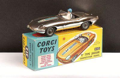 Mettoy Corgi diecast No.312 Jaguar E-type Competition 1964-68