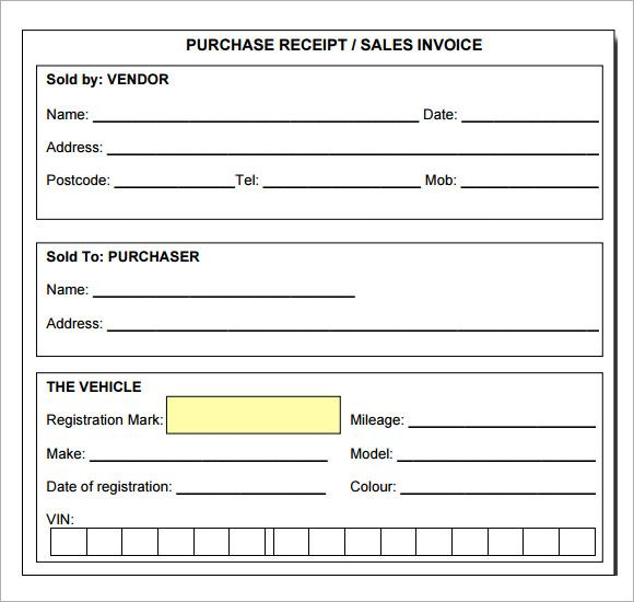 11 Itemized Receipt Templates Free Printable Word Excel Receipt Template Templates Printable Free Invoice Template
