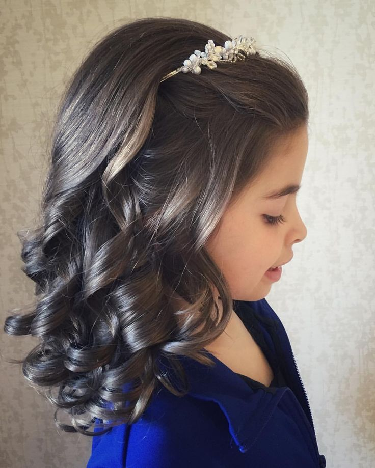 Communion hairstyle, brunette, crown by: See this Instagram photo by @thereal.jamesblonde • 24 likes