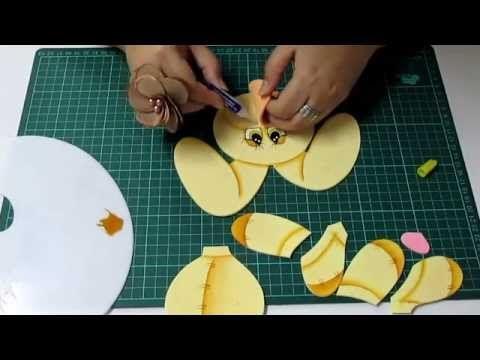 DIY Leoncito San Valentin en Foami, Goma Eva, Microporoso, Easy Crafts - YouTube