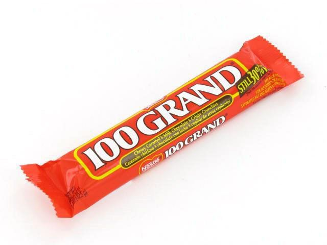 Share for $5 off your purchase of $50 or more!  100 Grand Bar - 1.5 oz bar