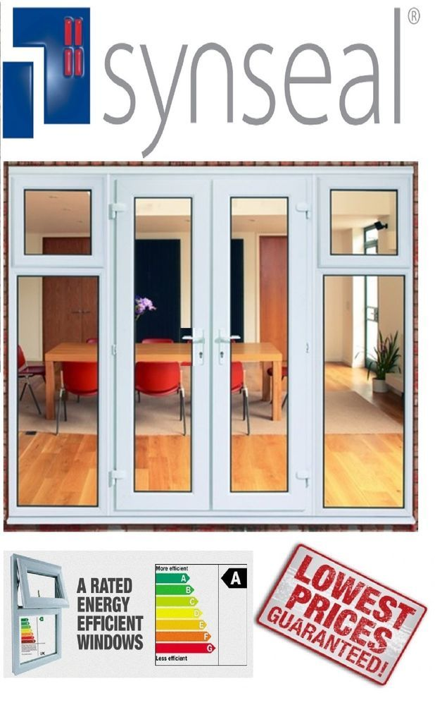 New White Synseal Upvc Patio Doors U0026 Side Panels With Opening Casement  Windows 2500 X 2100