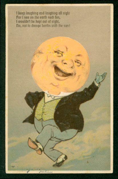 Vintage Moon Face I'm gonna paint a man ...