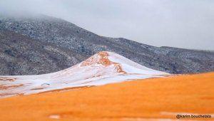 В пустные Сахаре впервые за почти 40 лет выпал снег