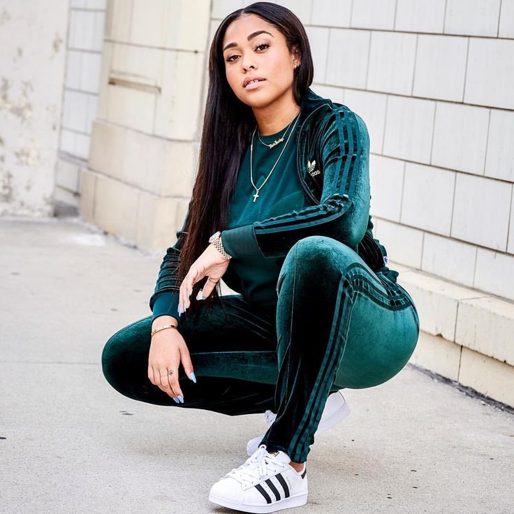 Velvet vibes✨The adidas Originals Velvet tracksuit @jordynwoods is rocking is available in select stores & online.