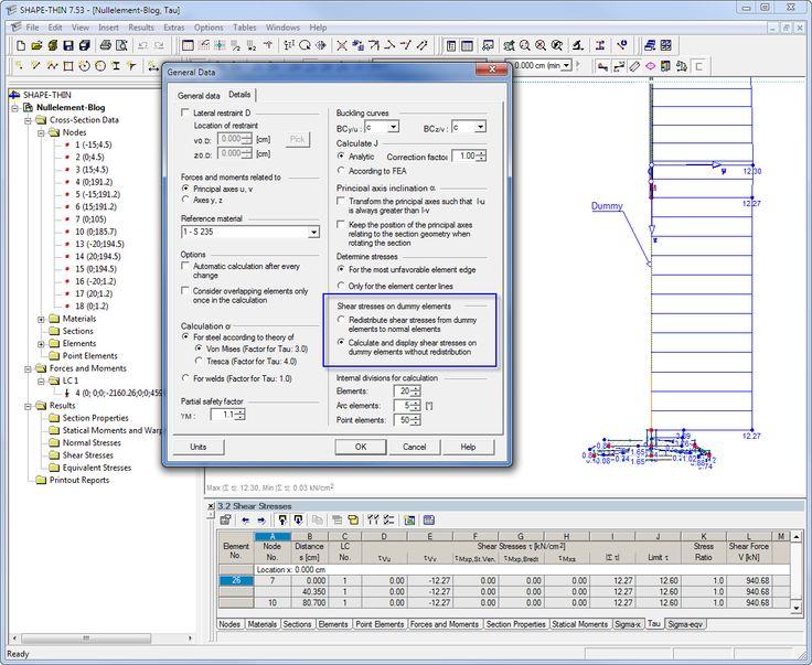Dlubal SHAPE-THIN 7 - Shear Stresses of Sections with Dummy Elements | https://www.dlubal.com/en | #bim #cad #dlubal #dynamics #eurocode #engineering #engineeringsoftware #fea #fem #rfem #rstab #structuralanalysis