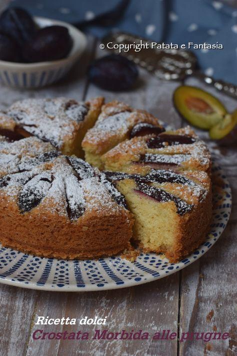 Ricetta crostata morbida | Crostata morbida alla frutta | dolci con prugne | ricetta dolci per bambini | dolci facili | ricette per colazioni | Crostata morbida alle prugne