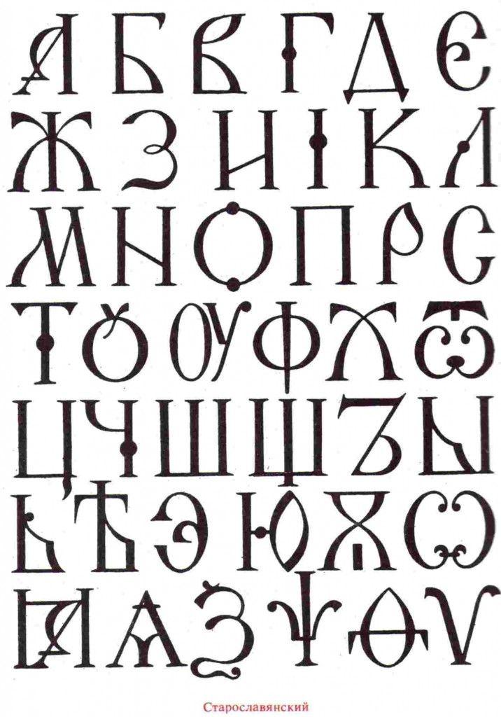 старославянский национальный шрифт для оформления разных вещей в славянском стиле