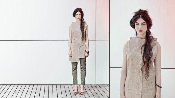 Special Price khaki tunic for Women by natafashion on Etsy, $75.00