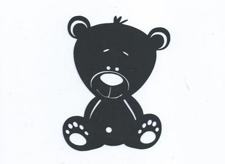Baby bear silhouette by hilemanhouse on Etsy