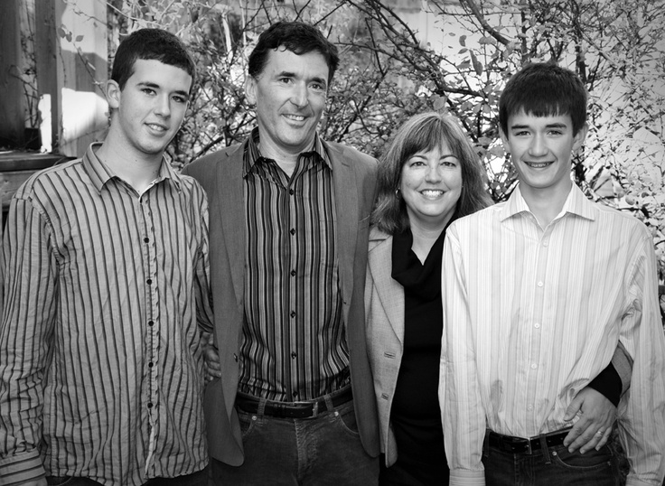 Paul Dewar, leadership candidate for the NDP, seen here with his family.