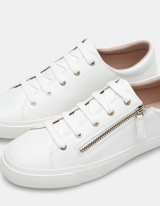 At Stradivarius you'll find 1 Plimsolls with zip detail for woman for just 199  SEK . Visit now to discover this and more SNEAKERS.
