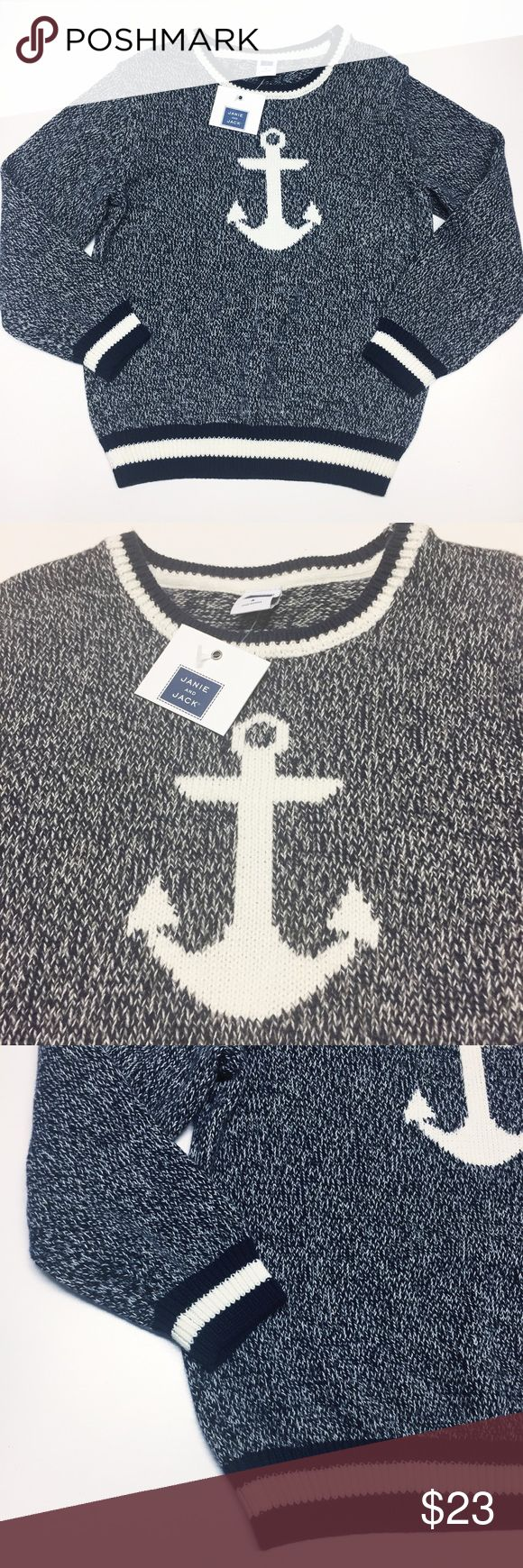 NWT Janie and Jack Anchor sweater SZ 4 Janie and Jack Sweater. Size 4. Brand new with tags. Cute Anchor design on front. Janie and Jack Shirts & Tops Sweaters