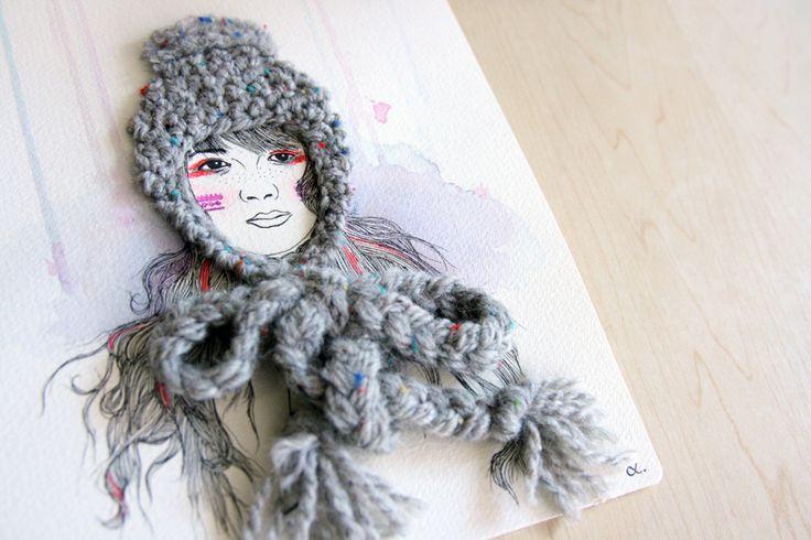 El blog de Dmc: Izziyana Suhaimi, ilustraciones con bordado