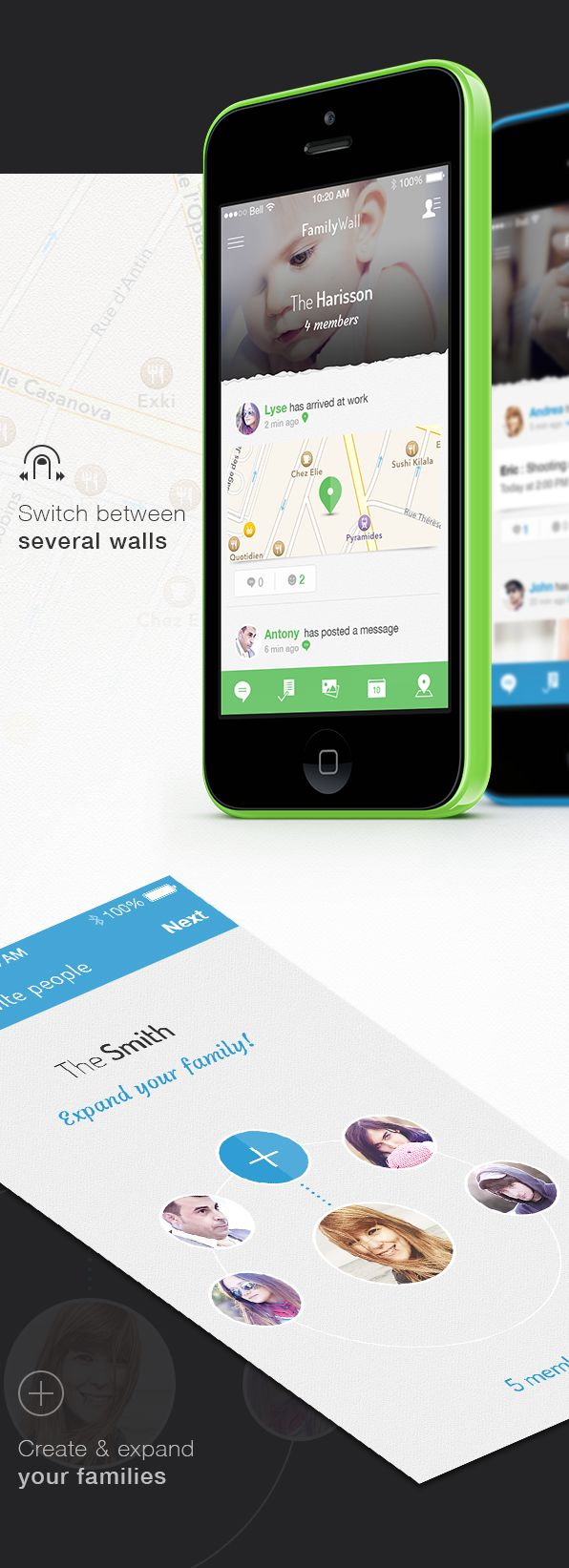 Family Wall App by Angelique Calmon, via Behance