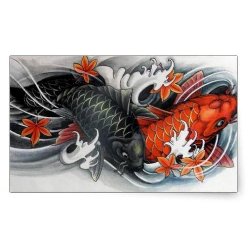 Japanese Drawings Of Koi Fish Japanese Red Black Koi Fish Tattoo Art Fashion Accessories Is