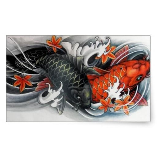 Japanese drawings of koi fish japanese red black koi for Japanese koi fish artwork
