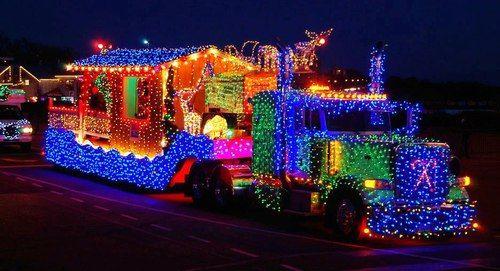 crazy Christmas semi truck