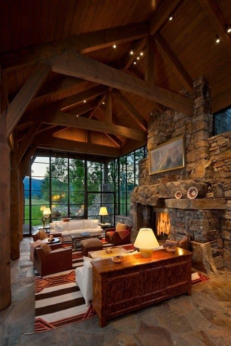 Rustic interior design most beautiful houses in the world for Montana rustic accents