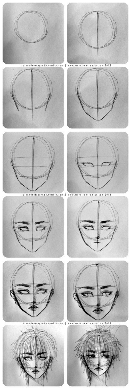 Pin oleh Park jia di draw Sketsa, Menggambar wajah, Cara