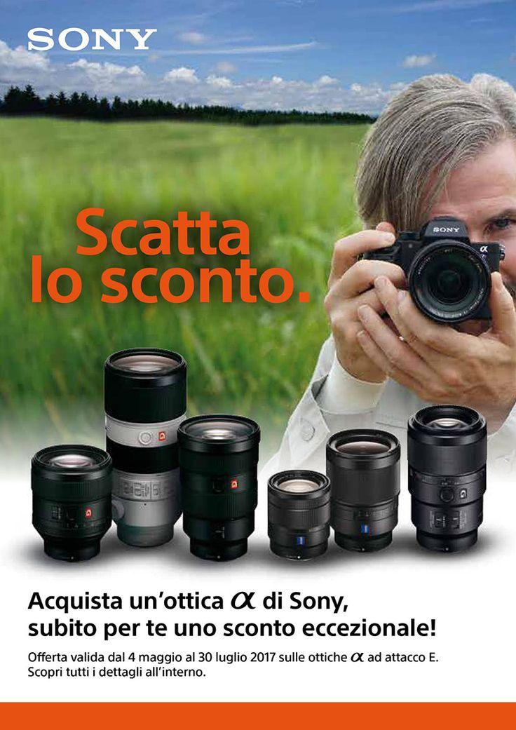 Acquista un'ottica A di Sony, subito per te uno sconto eccezionale! Offerta valida fino al 30/07/2017 Info: https://www.adcom.it/news.php?lang=it&idliv1=5&idn=449