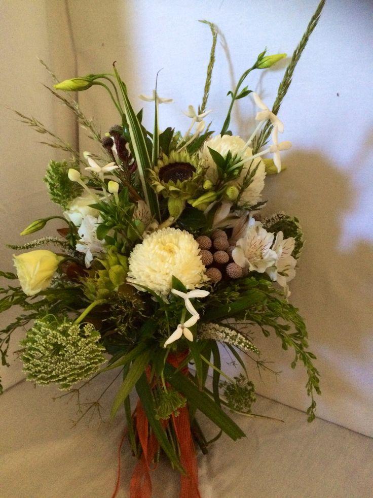 All white boho style bouquet.