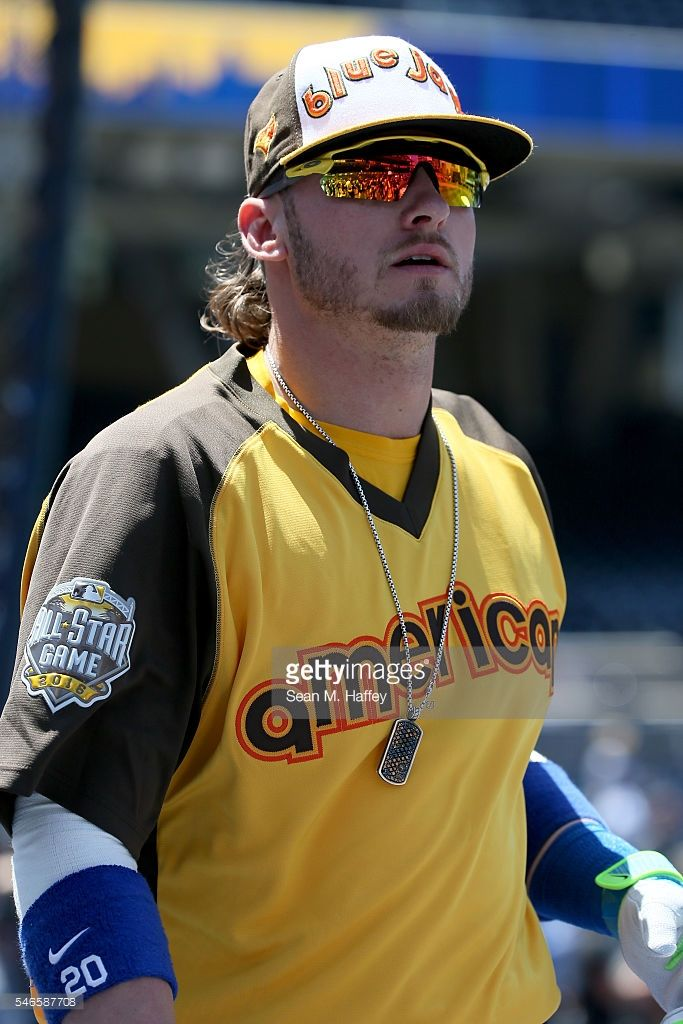Josh Donaldson #20 of the Toronto Blue Jays warms up prior to the 87th Annual MLB All-Star Game at PETCO Park on July 12, 2016 in San Diego, California.