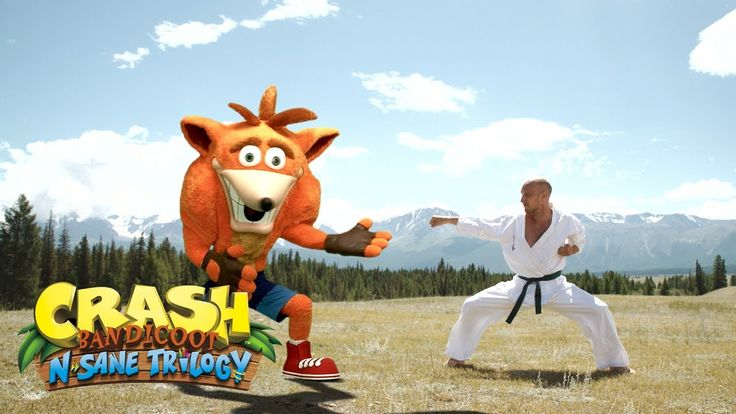 Create your own custom Crash Bandicoot video with this green screen stock footage!