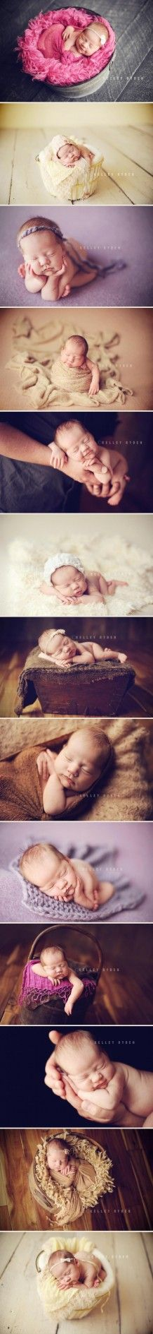 photography / newborn girl styling and posing