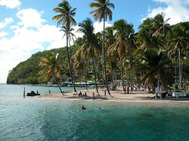 Marigot Bay Beach, Santa Lucia