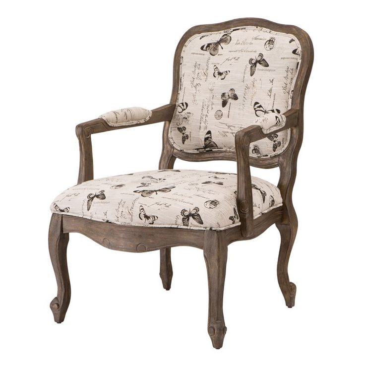 Madison Park Peyton Sarina Accent Chair: Wood Arm Chair, Armchair, Living Room Chairs