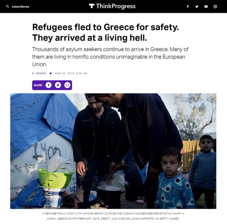 Refugees fled to Greece for safety. They arrived at a living hell. Thousands of asylum seekers continue to arrive in Greece. Many of them are living in horrific conditions unimaginable in the European Union.