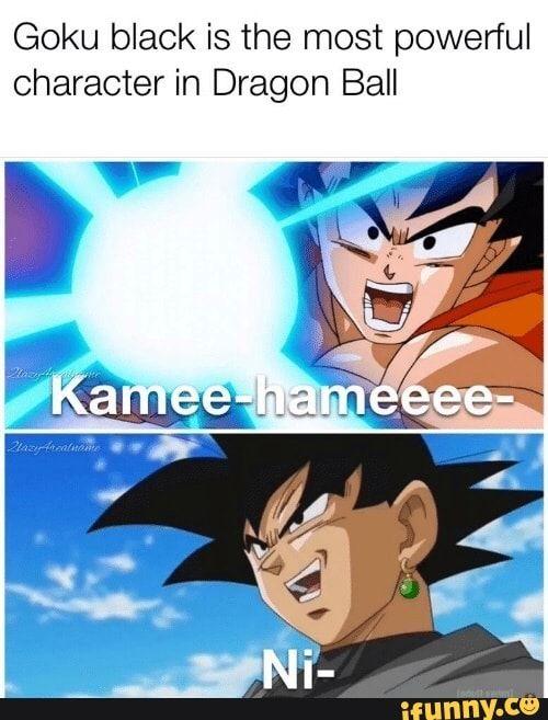 Black Goku Meme : black, Black, Powerful, Character, Dragon, IFunny, Black,, Artwork,, Funny