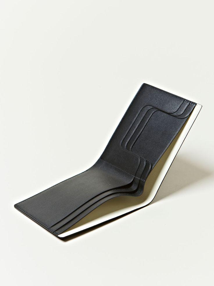 Isaac Reina Mens Enzo Mari Calfskin Wallet in Black for Men | Lyst