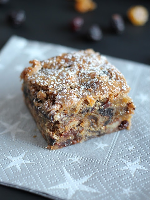 Fruitcake Bars (Luscious Cherry Brandy Bars)