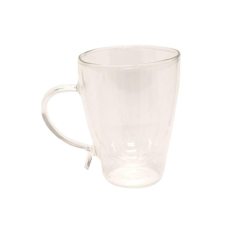 12 oz. Double-Wall Glass Coffee Cup, Clear