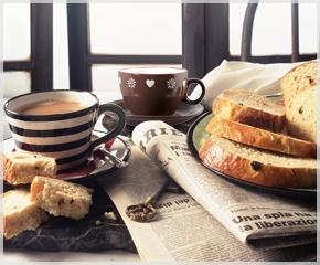 Koffie & thee & krant... Schrijven maar!
