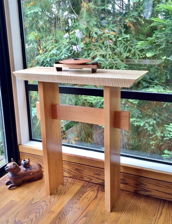 Narrow Side Table: Custom Furniture- Modern wood table, small hallway tables, narrow console, tables for entryway- STATEMENT COLLECTION