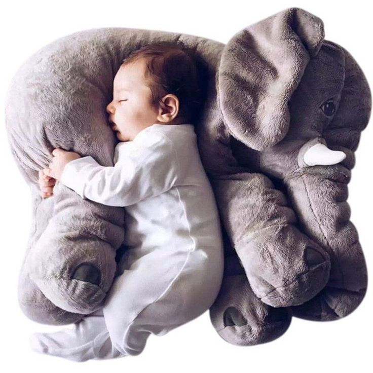 Amazon.com: SGS Baby Stuffed Elephant Plush Pillows Grey, 24 Inches: Toys & Games
